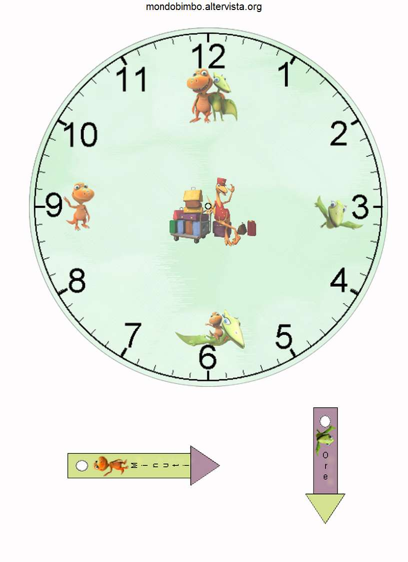 Orologi Da Stampare Ritagliare E Costruire Maschio Bambini Di